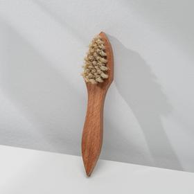 Brush for application of cream 32 beam, natural hair, color white