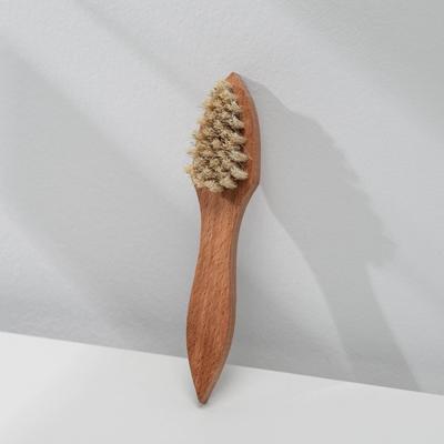 Щетка для нанесения крема 32 пучка, натуральный волос, цвет белый