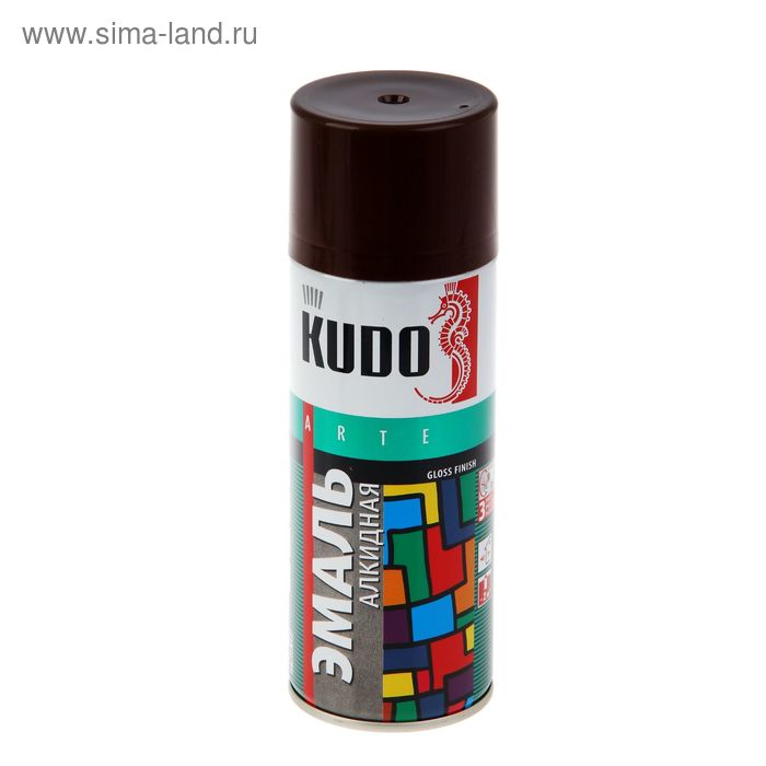 Эмаль алкидная универсальная Kudo коричневая, 0,52л