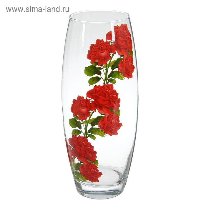 """Ваза Flora """"Розы"""" овальная"""