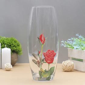 "Ваза ""Флора"", красная роза"