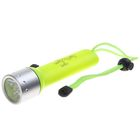 Waterproof flashlight for diving Deep, 1 diode, acid yellow