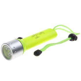 Водонепроницаемый фонарик для дайвинга Deep, 1 диод, кислотно-жёлтый