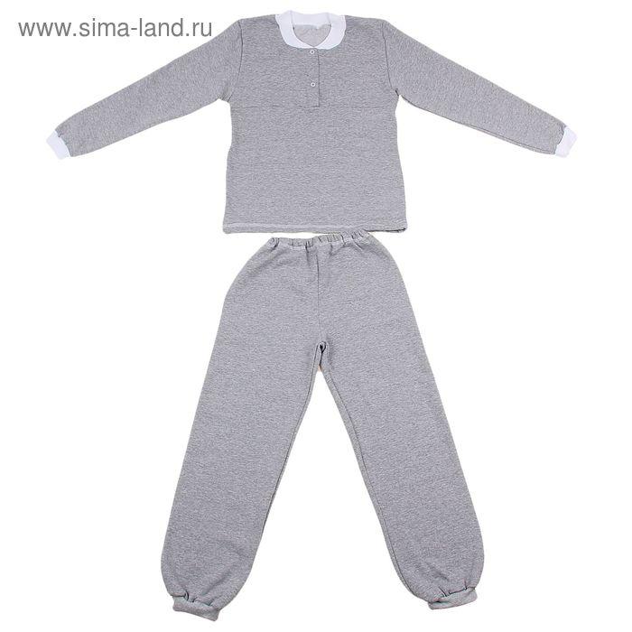 Пижама на кнопках, футер, рост 128 см (68), цвет МИКС  1058-68_Д