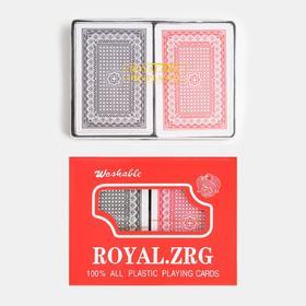 """Карты игральные пластиковые """"Poker range"""", 2 колоды по 54 шт, 25мкр, 8.8х5.7 см"""