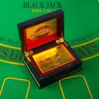 """Card plastic playing """"100 dollars"""", 54 pieces, 30 µm, 8.7×5.7 cm, in the box"""