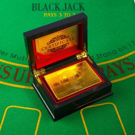 """Карты игральные пластиковые """"100 долларов"""", 54 шт, 30 мкм, 8.5×4,5 см, в шкатулке микс"""