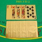 """Карты игральные пластиковые """"100 долларов"""", 54 шт, 30 мкм, 8.7×5.7 см, в шкатулке"""