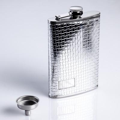 """Подарочный набор 6 в 1 """"Клетка"""": фляжка 270 мл + 4 рюмки, воронка"""