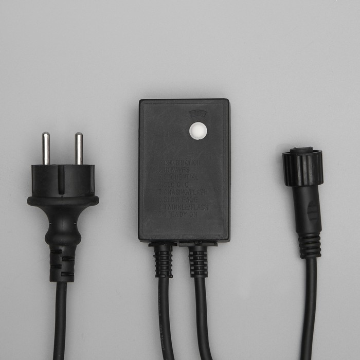 "Контроллер уличный для гирлянд УМС, ""КАУЧУК"", до 3000 LED, 220V, Н.Т. 3W, 8 режимов"