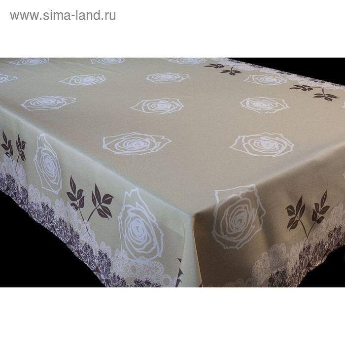 """Скатерть """"Роза"""", размер 150х220 +/- 3 см, габардин"""