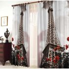 """Комплект штор """"Эйфелева башня"""", ширина 145 см, высота 270 см +/-5 см-2 шт., габардин 150 г/м2 - фото 600419"""