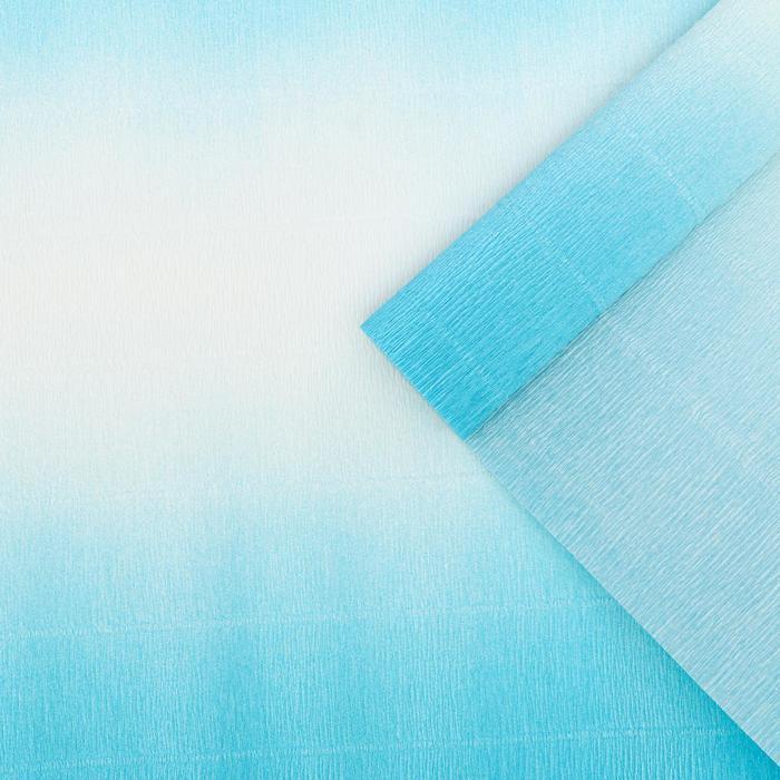 """Бумага гофрированная, 600/2 """"Бело-голубая"""", 0,5 х 2,5 м"""