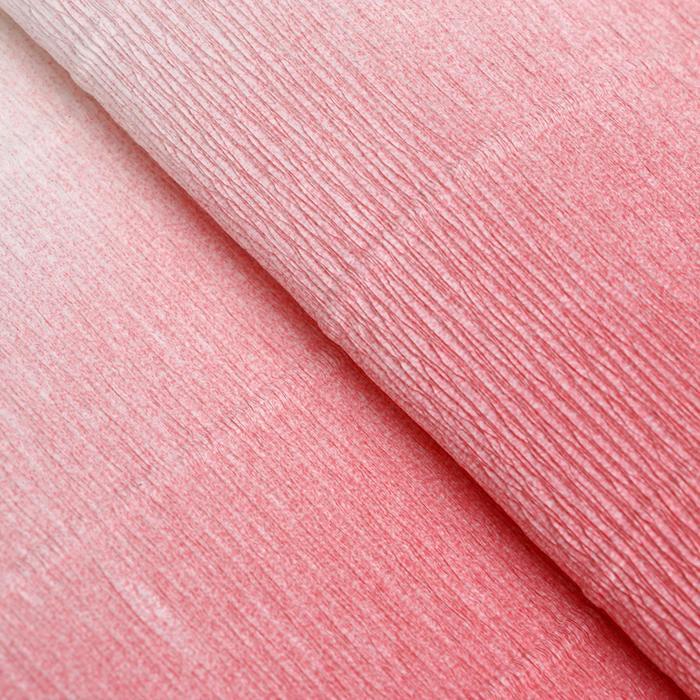 "Бумага гофрированная, 600/4 ""Бело-розовая"", 0,5 х 2,5 м - фото 424230"