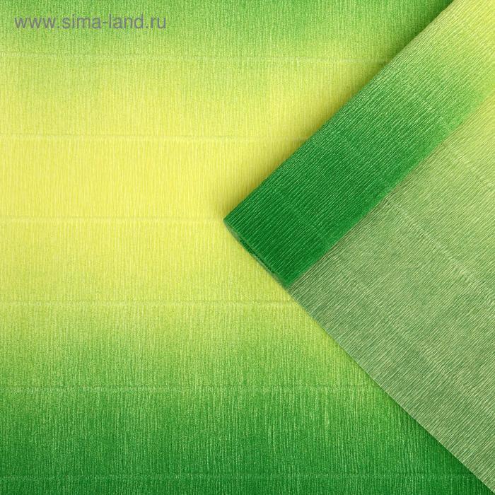 """Бумага гофрированная, 600/5 """"Жёлто-зелёная"""", 0,5 х 2,5 м"""
