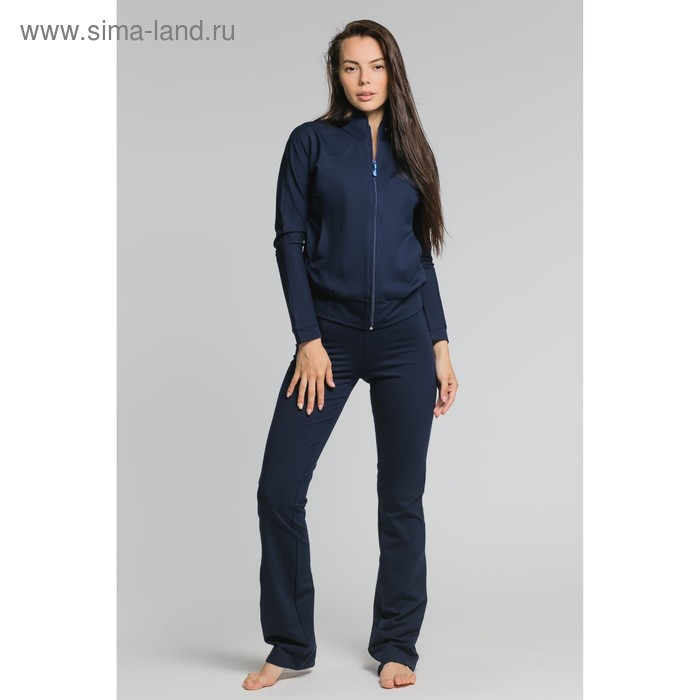 Костюм женский (куртка, брюки) М-529-05 синий, р-р 50