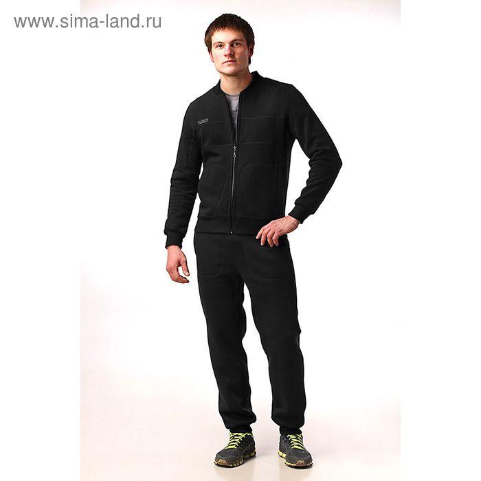 Костюм мужской (жакет, брюки) М-41-05 черный, р-р 54