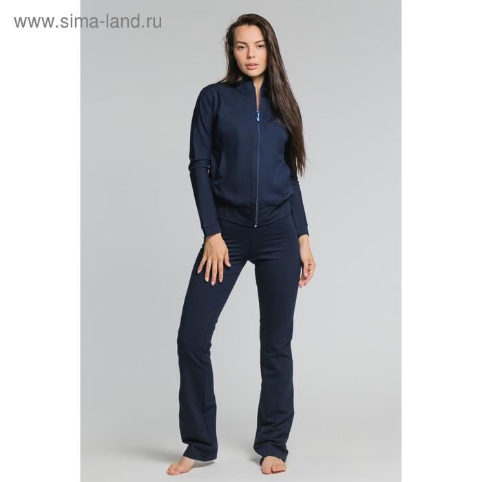 Костюм женский (куртка, брюки) М-529-05 синий, р-р 52