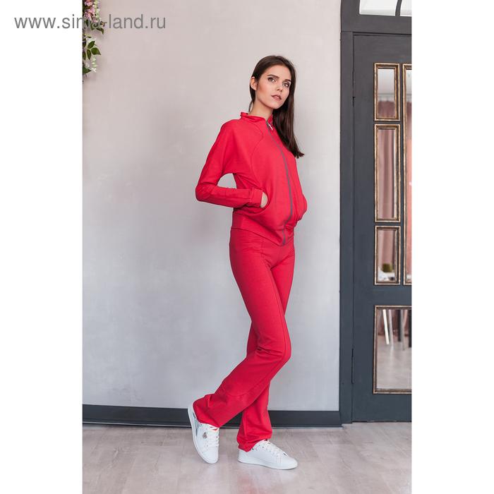Костюм женский (куртка, брюки) М-529-05 коралл, р-р 52