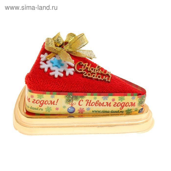 """Полотенце сувенирное торт """"Collorista"""" Снежинка 20 х 20 см, микрофибра"""