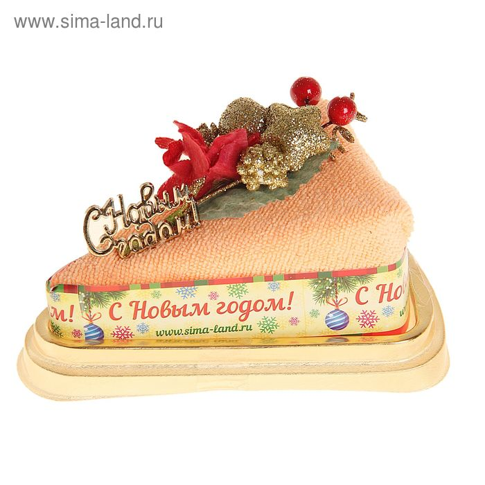 "Полотенце сувенирное торт ""Collorista"" Новогодний букет 20 х 20 см, микрофибра"