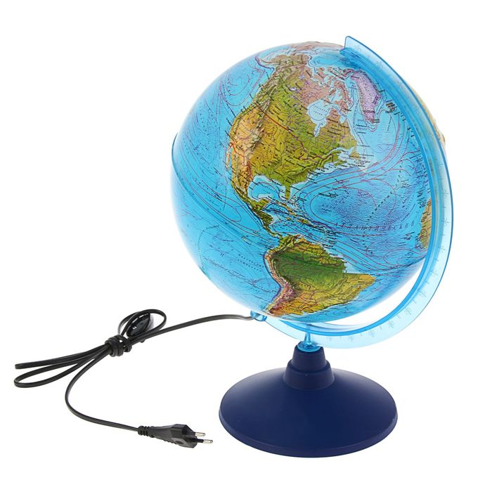 Глобус ландшафтный, рельефный «Классик Евро», диаметр 250 мм, с подсветкой