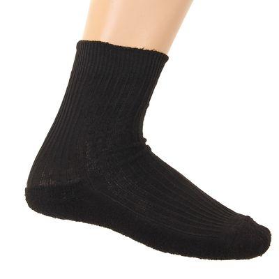 Носки мужские, махровый след, размер 27, цвет чёрный