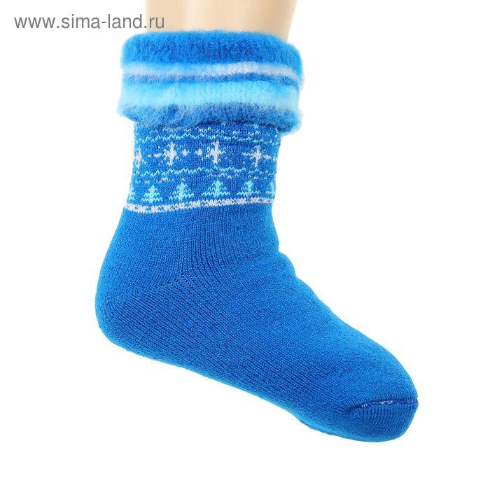 Носки детские махровые с начесом, размер 22, цвет МИКС