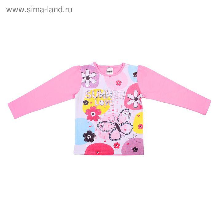 """Джемпер для девочки """"Цветные круги"""", рост 140 см, цвет розовый 777-446"""