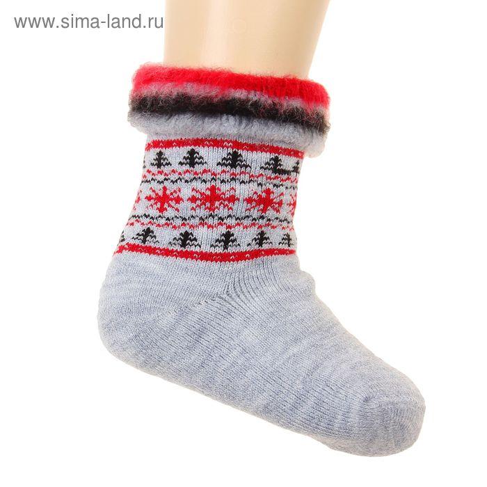 Носки детские махровые с начесом, размер 20, цвет МИКС