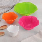 """A set of salad bowls """"Wave"""", 4 pieces: 7/10/12/15 cm, MIX color"""