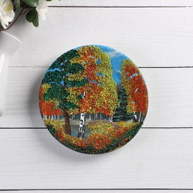 """Plate porcelain """"Autumn"""", stone chippings, D=18 cm"""