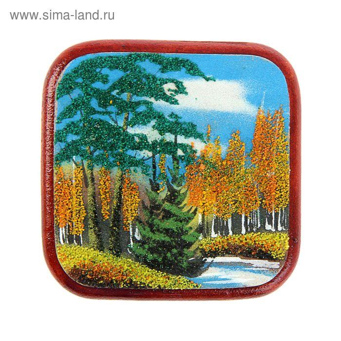 "Картина квадратная ""Осень""  11 х 11 см 151119"