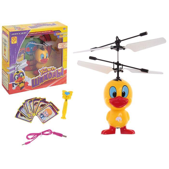 Вертолёт радиоуправляемый «Утки Шпионы», заряд от USB, БОНУС - игра