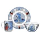 """Набор посуды детский """"Умка"""", 3 предмета: кружка 200 мл, салатник 300 мл, тарелка 20 см"""