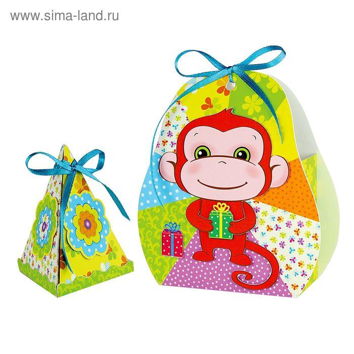"""Набор для декорирования двух коробочек """"Веселая обезьянка"""""""