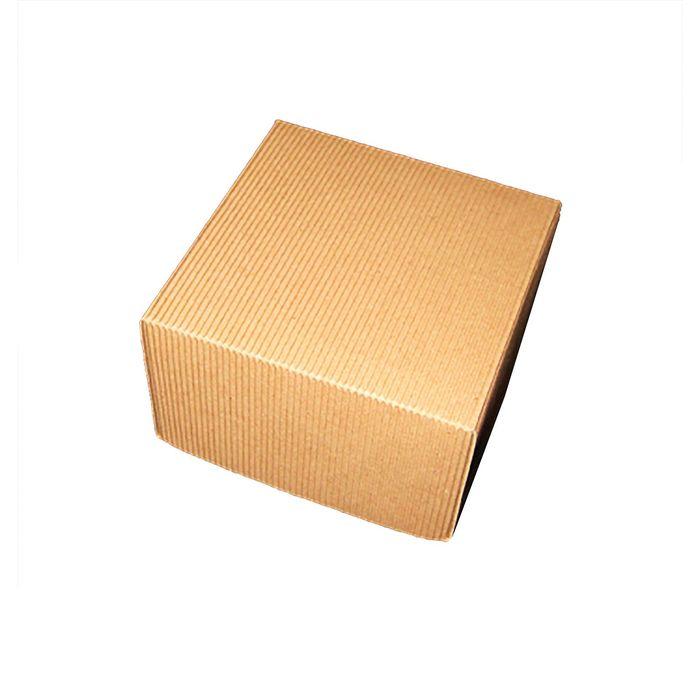 Коробка крафт из рифлёного картона, 11 х 11 х 7 см