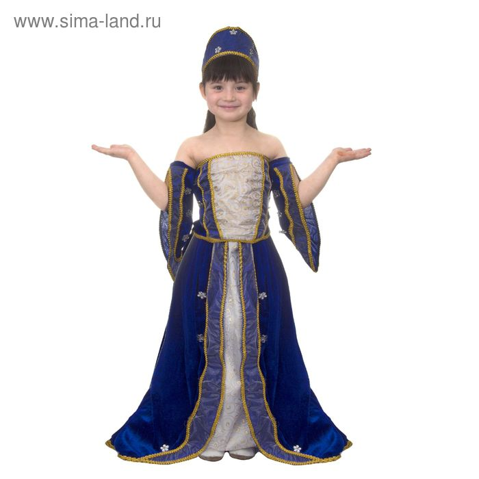 """Карнавальный костюм """"Графиня"""", 3 предмета: блузка, юбка, головной убор, размер S (110-120 см)"""
