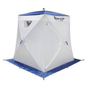 Палатка 'Призма Люкс' 150, 1-слойная, цвет бело-синий Ош