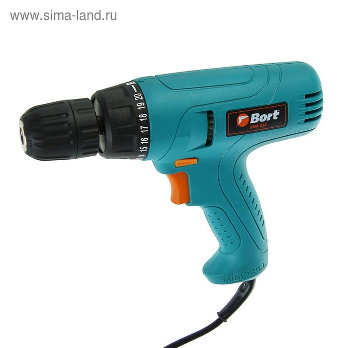 Дрель-шуруповерт Bort BSM-250, электрическая
