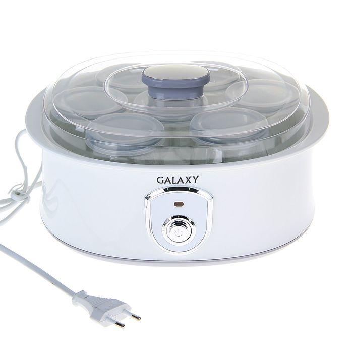 Йогуртница Galaxy GL 2690, 20 Вт, 200 мл, 7 ёмкостей, белая