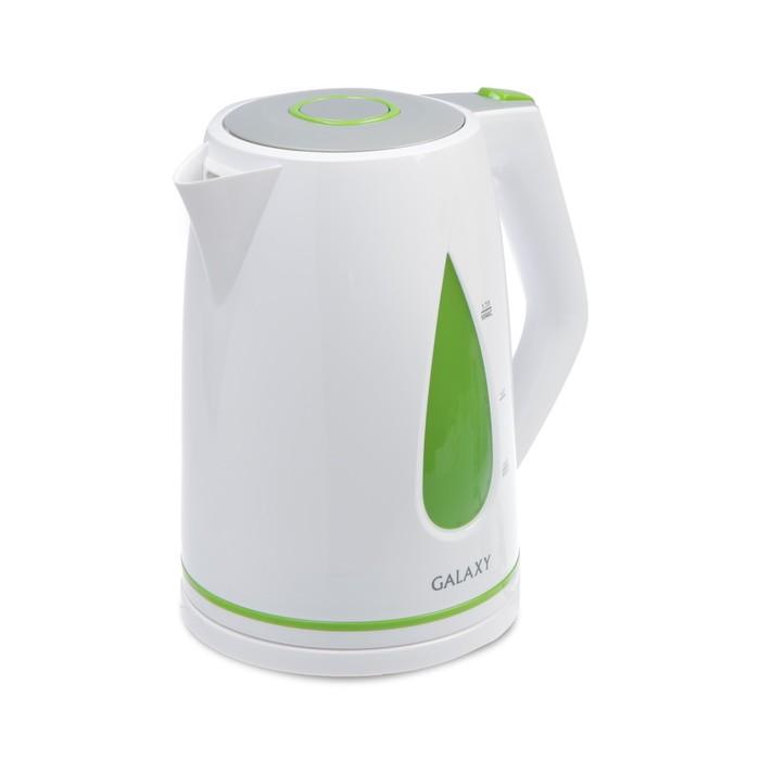 Чайник электрический Galaxy GL 0201, 2200 Вт, 1.7 л, пластик, зелёный