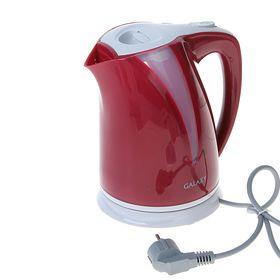Чайник электрический Galaxy GL 0204, 2200 Вт, 2 л, пластик, подсветка, красный