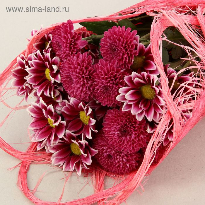 Салфетка Веер каскадный, лён, ярко-розовый