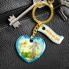 "Bilateral keychain with resin fill ""Rostov-on-don"""
