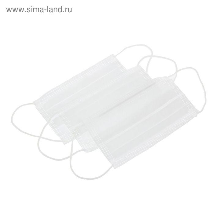 Маска медицинская Берегиня Стандарт (белая) 50 шт/уп.