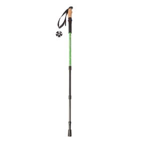 Палка для скандинавской ходьбы телескопическая, 3 секции, до 110 см, (1шт), цвет зелёный