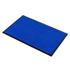 Коврик придверный влаговпитывающий, ребристый, «Стандарт», 50×80 см, цвет синий