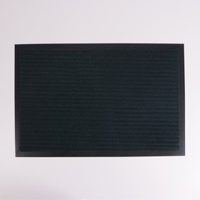 Коврик придверный влаговпитывающий, ребристый, «Стандарт», 40×60 см, цвет зелёный