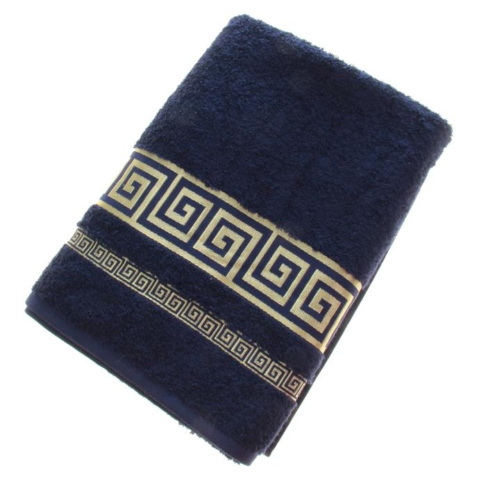 Полотенце махровое Fiesta Versace 70*130 см синий 500гр/м, бамбук